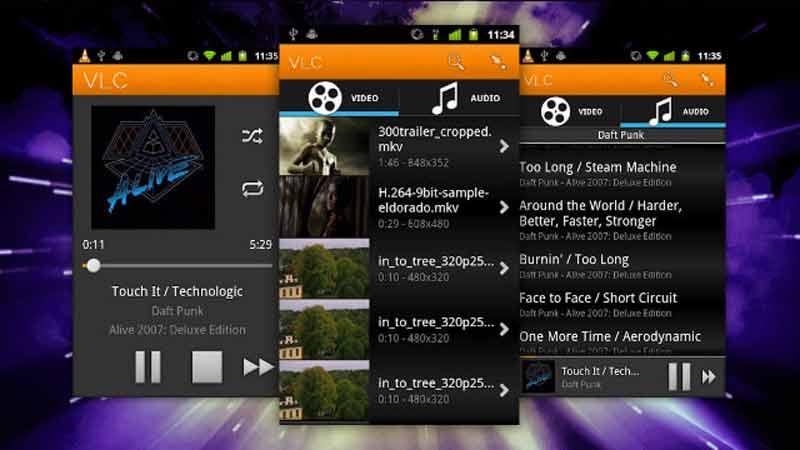 Reproductor de vídeo VLC para Android