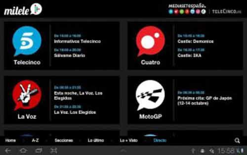 App para ver la TV en Android - MiTele
