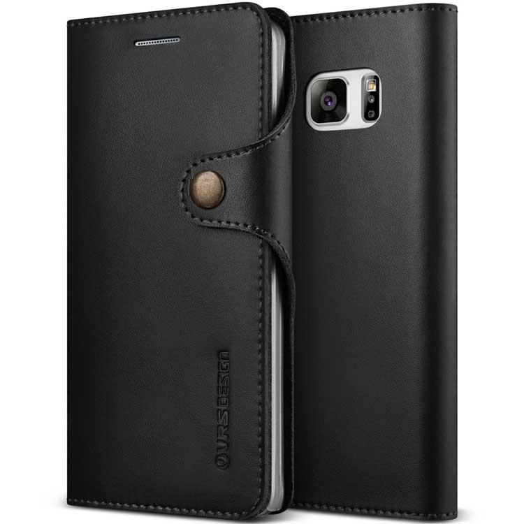 Funda protectora de cuero con tapa para el Samsung Galaxy Note 7