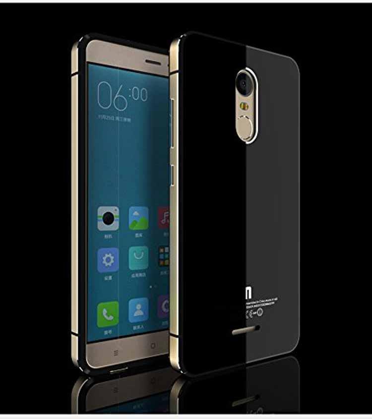 Funda híbrida de aluminio y cristal templado para Xiaomi Redmi Note 3
