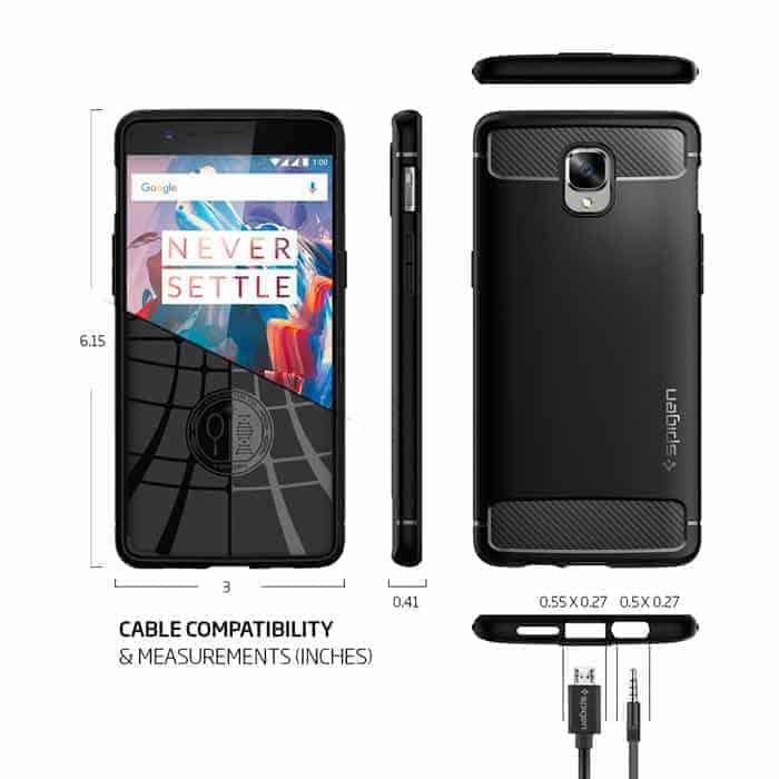 Funda OnePlus 3 robusta - Spigen