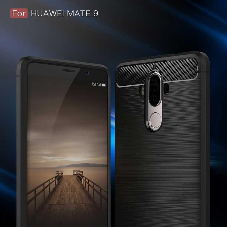 Funda de fibra de carbono para Huawei Mate 9