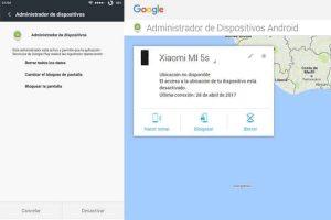 Android perdido Administrador de dispositivos