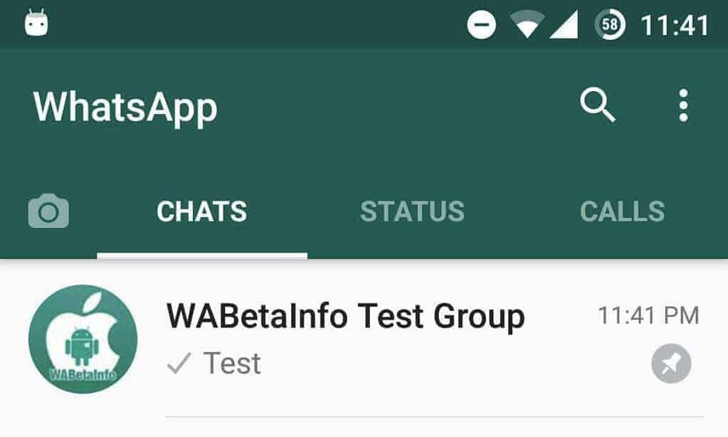 Fijar grupo en WhatsApp
