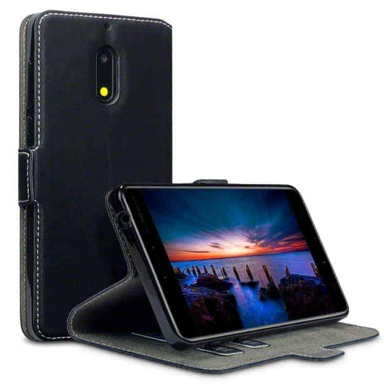 Funda para Nokia 6 de cuero con tapa Terrapin