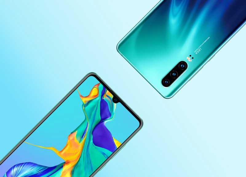 Huawei-P30-green-blue